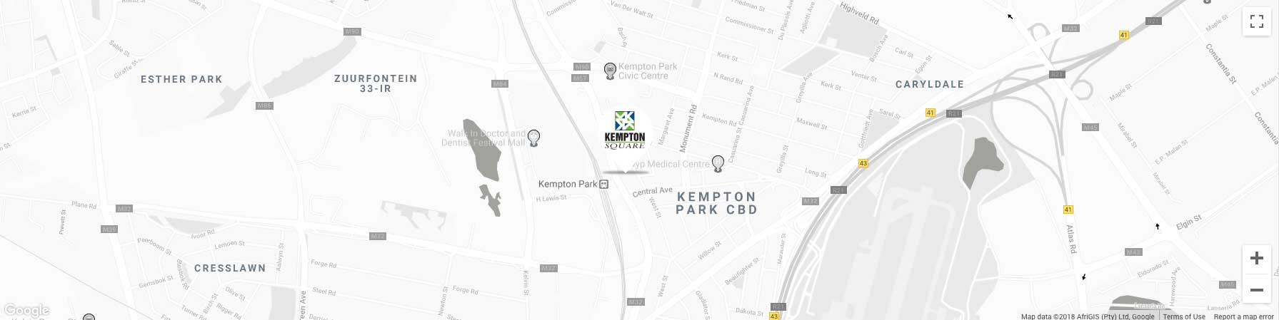 Kempton Square Mall and Shopping centre location map